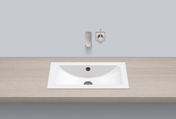 Built-in basin from glazed steel EB.R585 by Alape