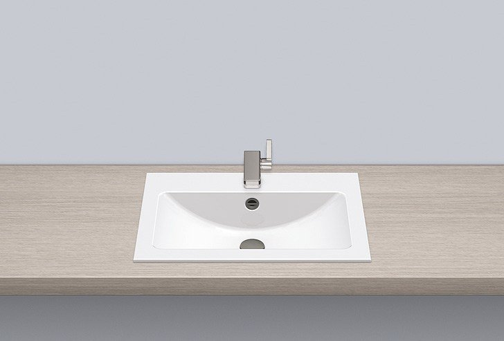 Built-in basin from glazed steel EB.R585H by Alape