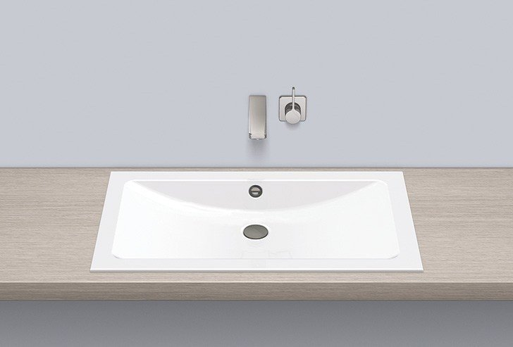Built-in basin from glazed steel EB.R800 by Alape