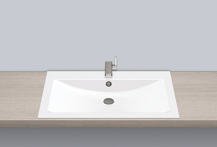 Built-in basin from glazed steel EB.R800H by Alape