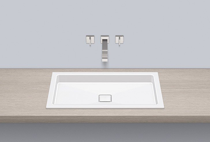 Built-in basin from glazed steel EB.RE700.4 by Alape