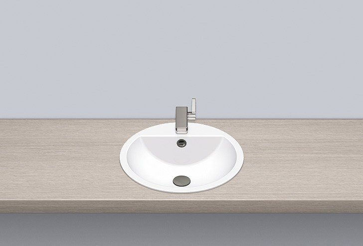 Built-in basin from glazed steel EB.S450H by Alape