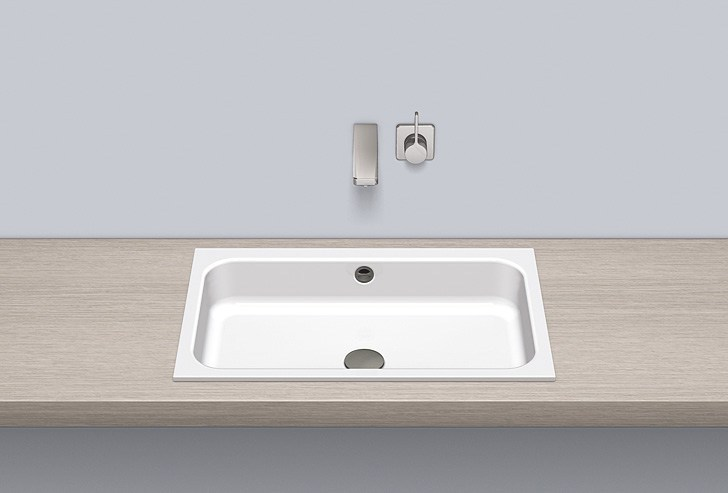 Built-in basin from glazed steel EB.SR650 by Alape