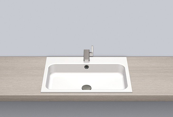 Built-in basin from glazed steel EB.SR650H by Alape