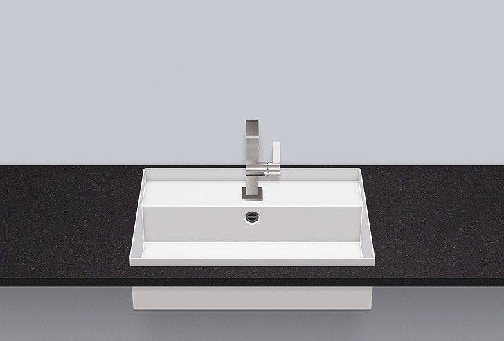 Built-in basin from glazed steel EB.ST600H by Alape