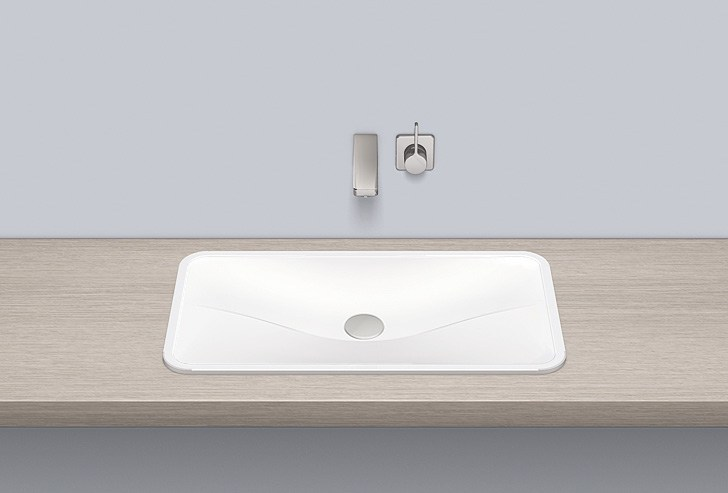 Built-in basin from glazed steel EB.TA700 by Alape