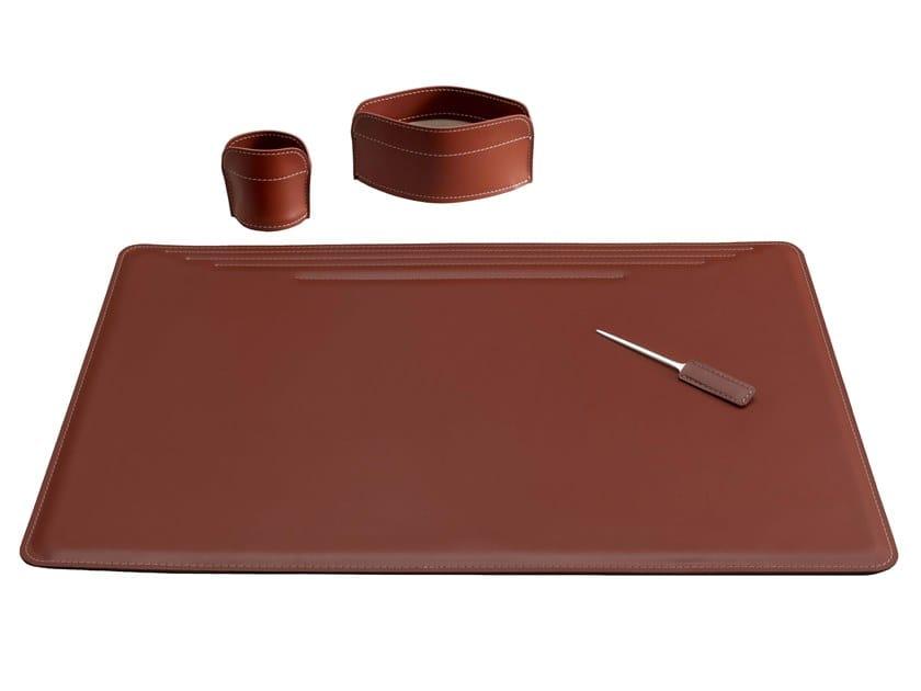 Bonded leather desk set EBE 4 PZ by LIMAC design FIRESTYLE