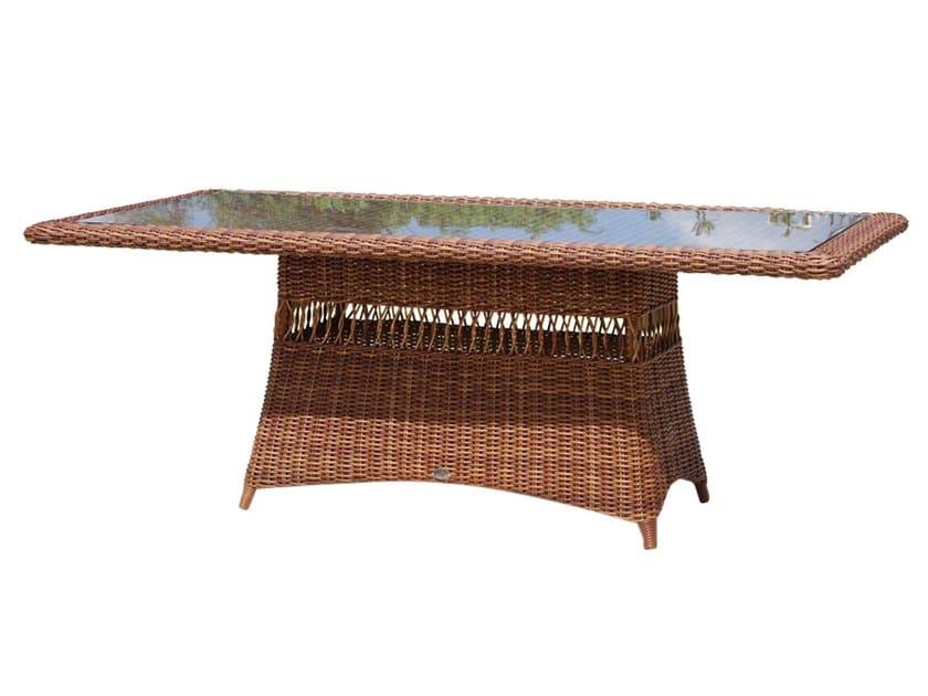 Tavolo da giardino rettangolare in polipropilene per contract EBONY 22550 by SKYLINE design