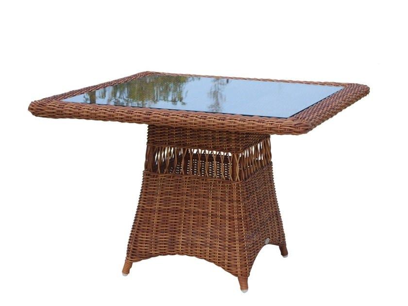 Square table EBONY 22551 by SKYLINE design