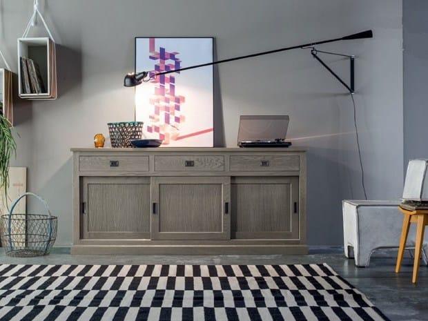 Wooden sideboard with sliding doors ECLETTICA | Sideboard with sliding doors by Devina Nais