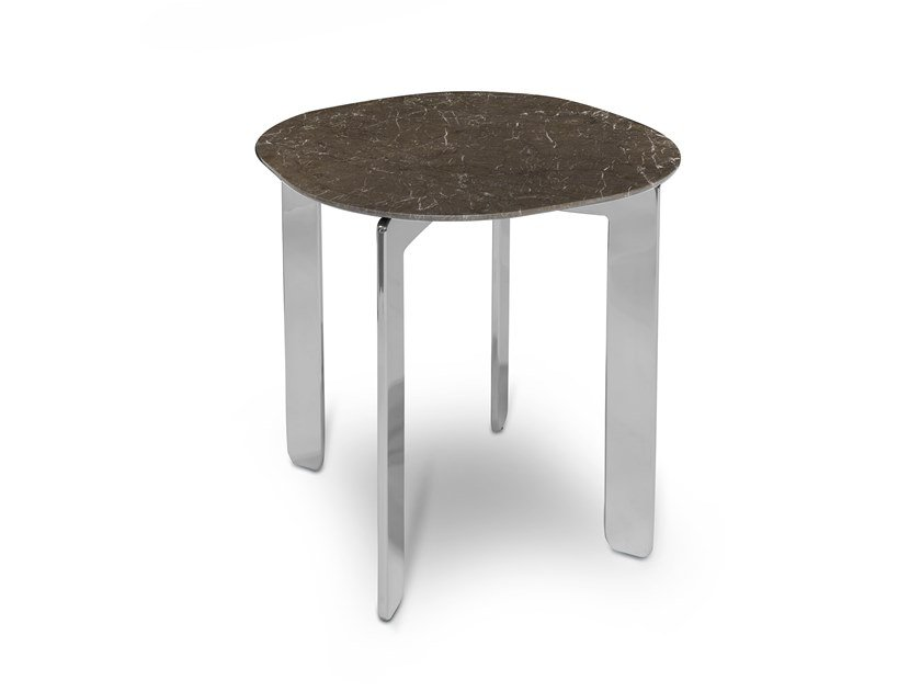 Dark Olive marble coffee table ECCO CAPUCCINO 60X60 by AKDO