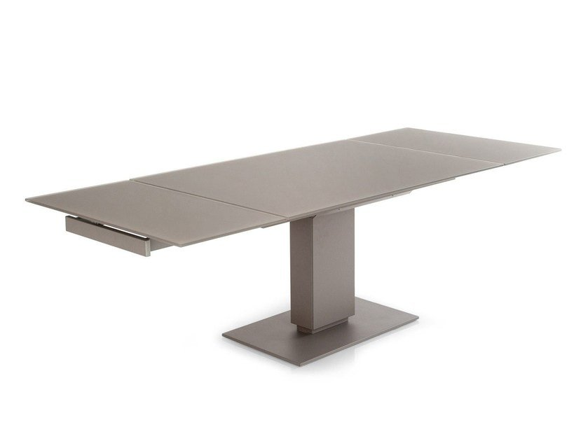 Extending rectangular ceramic table ECHO by Calligaris