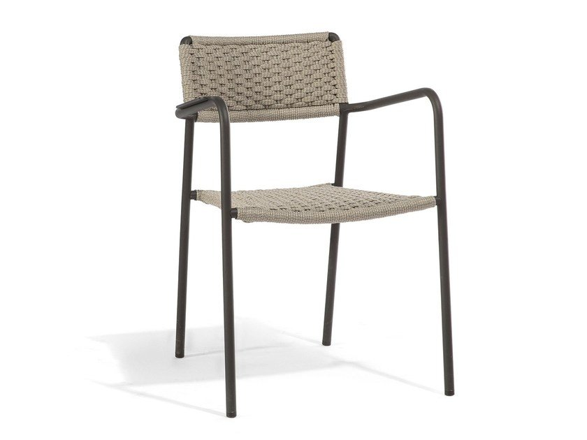 Stackable garden chair with armrests ECHO | Garden chair by MANUTTI