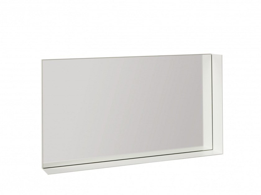 Rectangular wall-mounted mirror with shelf ECK by Müller Small Living