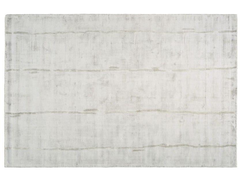Solid-color rectangular silk rug ECLAT by Toulemonde Bochart