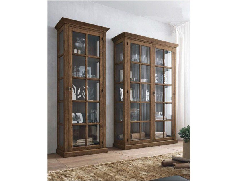 Wooden display cabinet ECLETTICA | Display cabinet by Devina Nais
