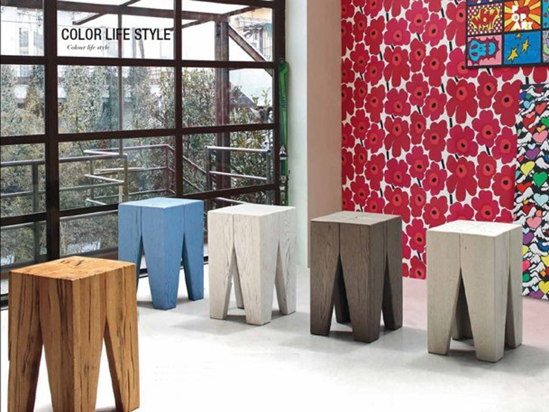 Wooden stool ECLETTICA | Stool by Devina Nais