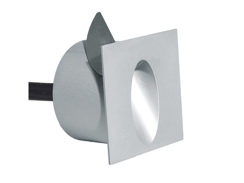 Segnapasso a LED a parete in alluminio per esterni ECLIPS Q by Aldabra