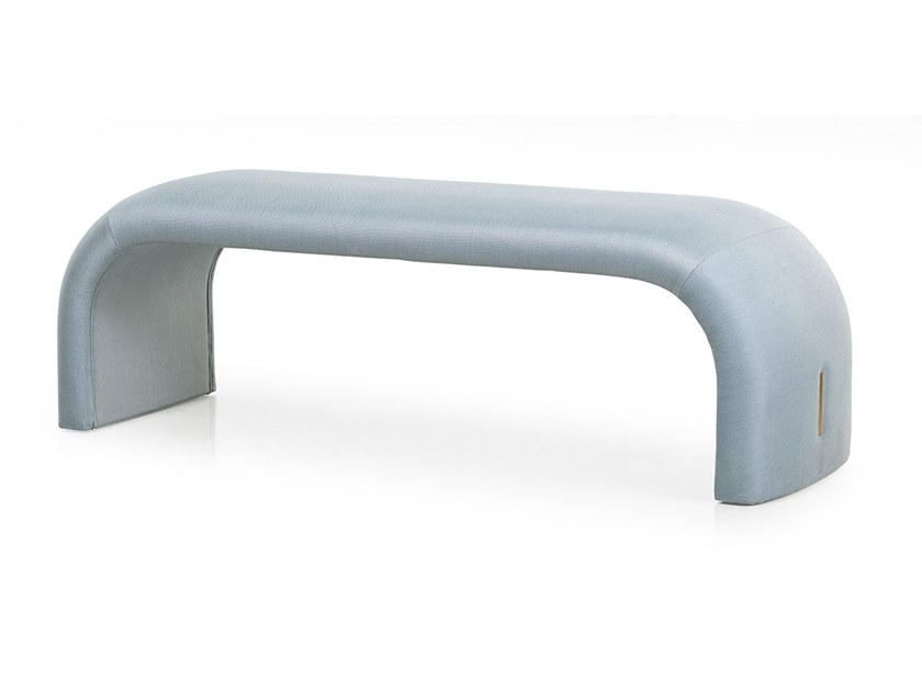 Upholstered fabric bench ECLIPSE | Bench by Turri