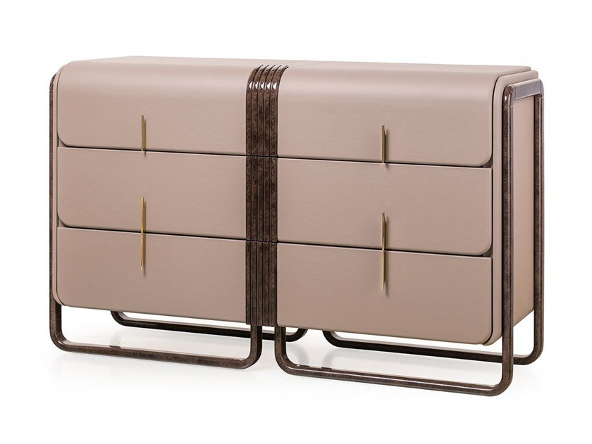 Leather chest of drawers ECLIPSE | Chest of drawers by Turri