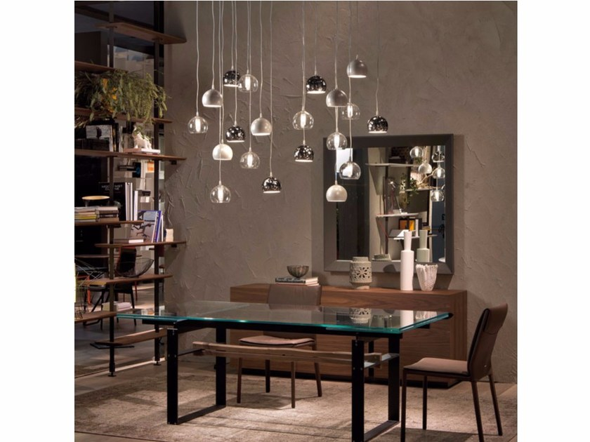 Steel pendant lamp ECLIPSE by Cattelan Italia