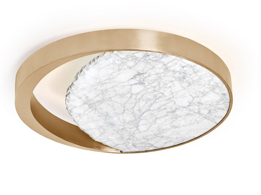 LED marble ceiling lamp ECLIPSE | Ceiling lamp by Ginger & Jagger