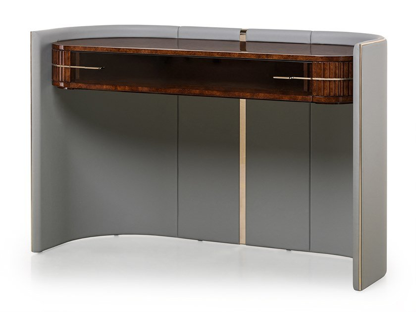Rectangular leather console table ECLIPSE | Console table by Turri