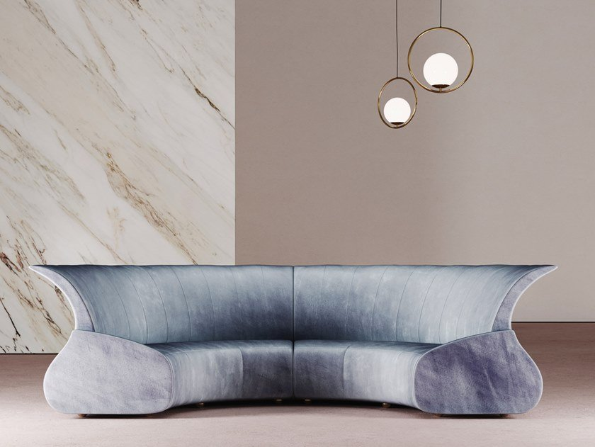 Curved fabric sofa ECLIPSE | Curved sofa by Desforma