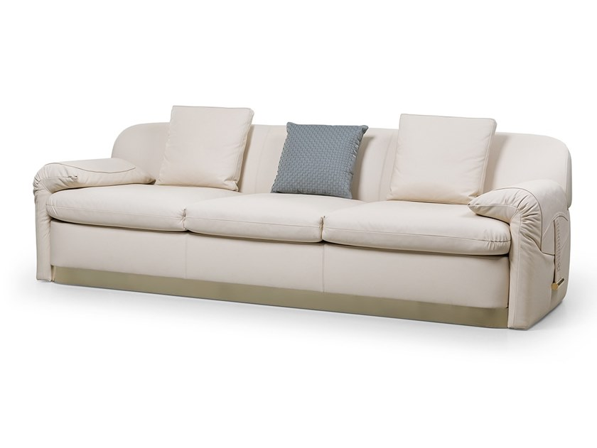 4 seater leather sofa ECLIPSE | Sofa by Turri