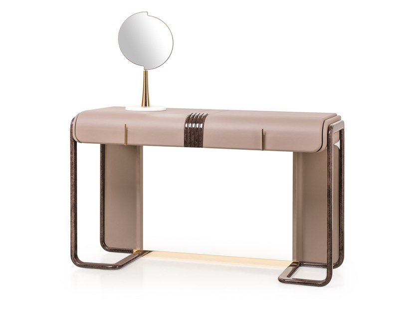Leather dressing table ECLIPSE | Dressing table by Turri