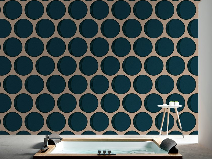 Dotted vinyl wallpaper ECLIPSE by Baboon