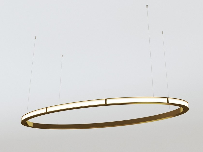 LED direct-indirect light aluminium pendant lamp ECLIPSE by Oleant