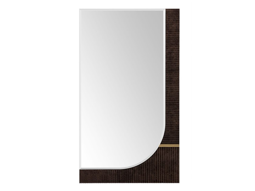 Rectangular wall-mounted wooden mirror ECLIPSE | Rectangular mirror by Turri