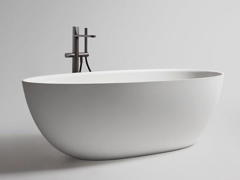 Vasca da bagno centro stanza ovale in Cristalplant® ECLIPSE SMALL by Antonio Lupi Design