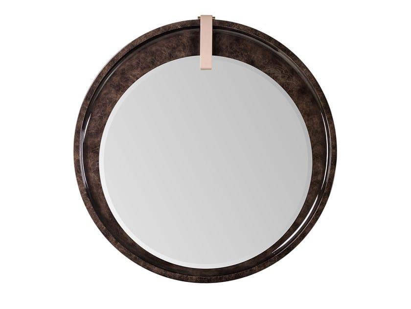 Round framed wooden mirror ECLIPSE | Round mirror by Turri
