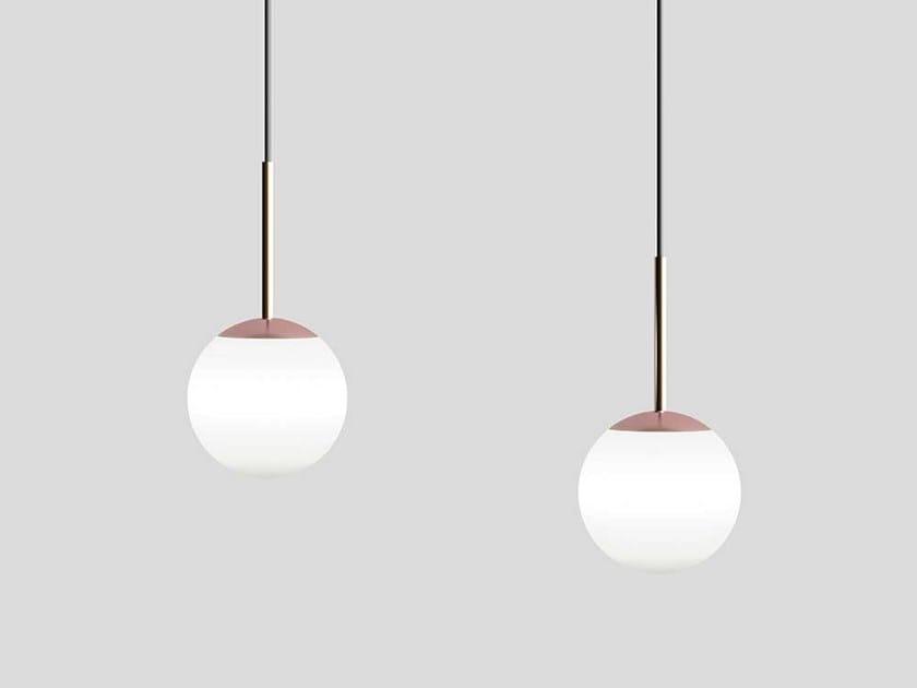 Glass pendant lamp ECLYPSE by Adriani e Rossi edizioni
