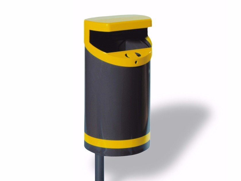 Metal litter bin with ashtray ECO 50 by A.U.ESSE