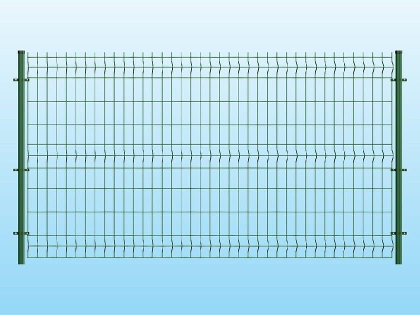 Modular electrically welded mesh Fence ECO GREEN by Ferro Bulloni