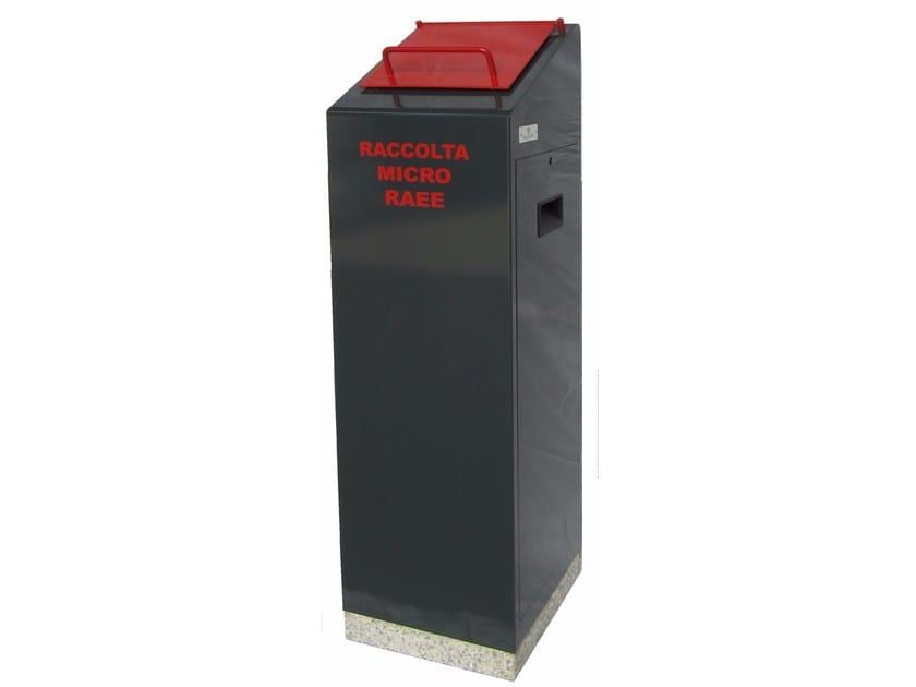 Steel litter bin for waste sorting ECO MICRO WEEE EASY by A.U.ESSE
