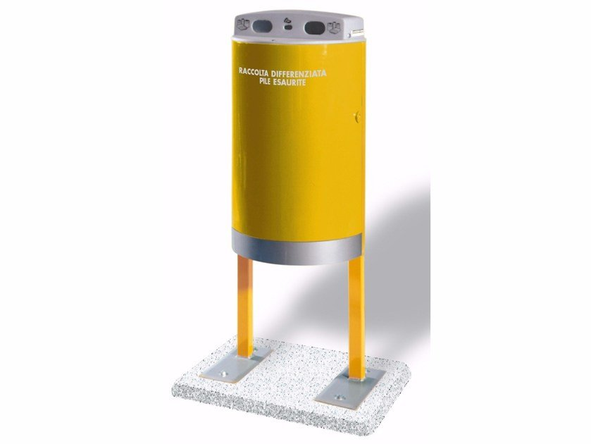 Portarifiuti in metallo per batterie scariche ECO PILA CON BASAMENTO by A.U.ESSE
