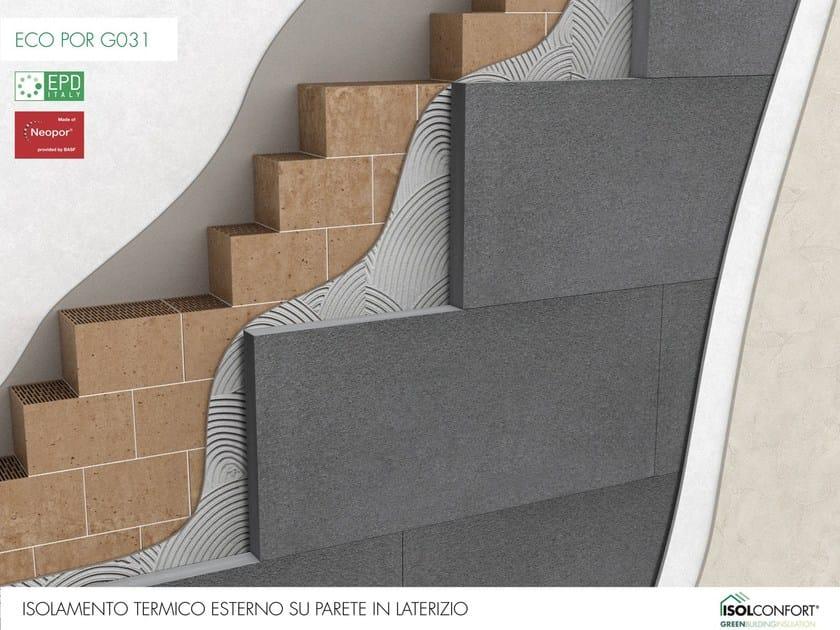 ECO POR G031 Isolconfort Eco Por G031 - Isolamento termico a cappotto in Neopor® su laterizio