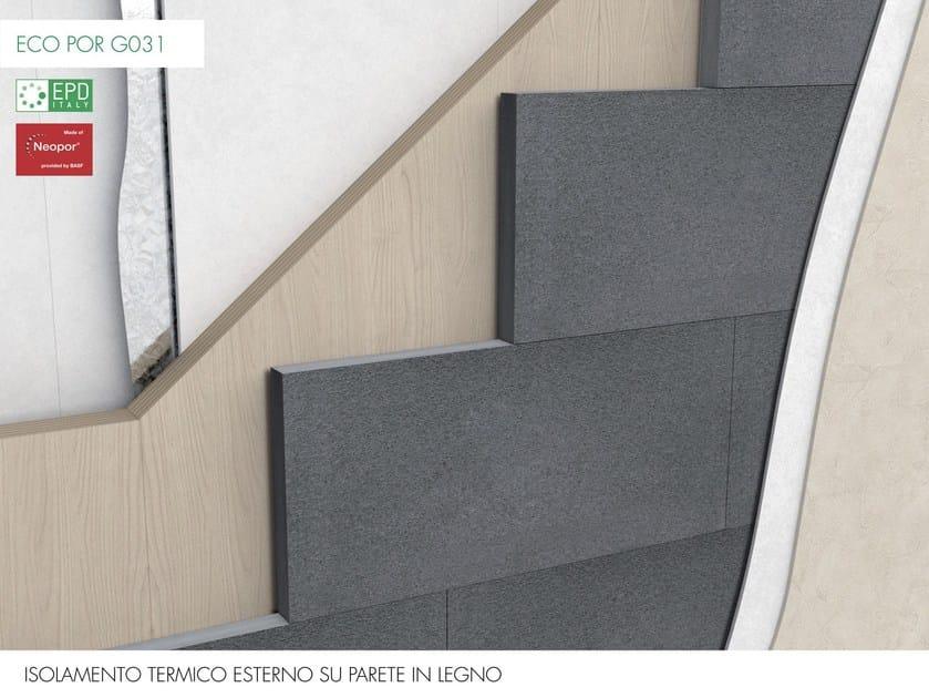 ECO POR G031 Isolconfort Eco Por G031 - Isolamento termico a cappotto in Neopor® su parete in legno