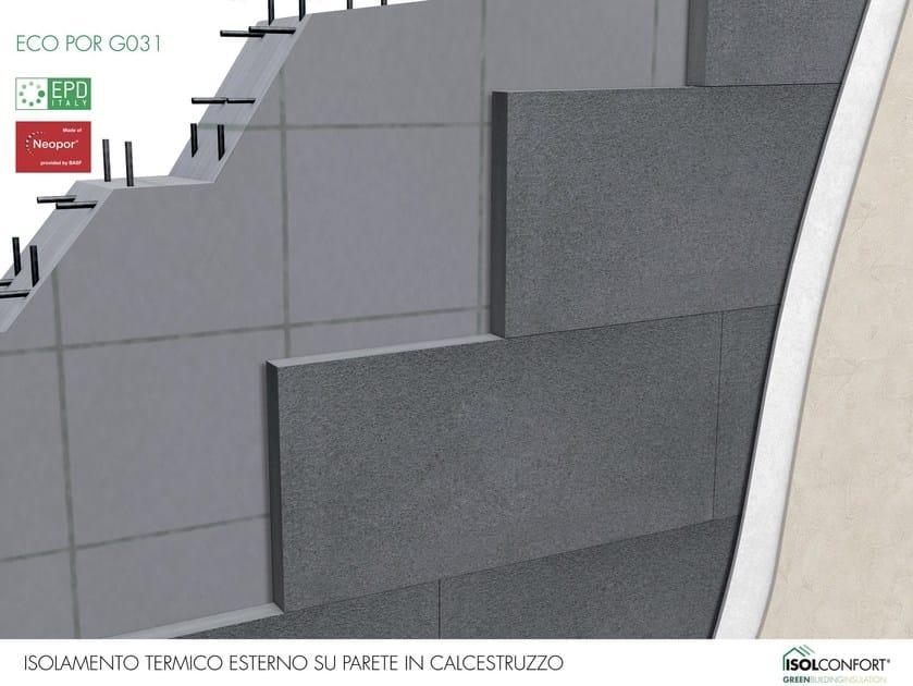 ECO POR G031 Isolconfort Eco Por G031 - Isolamento termico a cappotto in Neopor® su parete in calcestruzzo