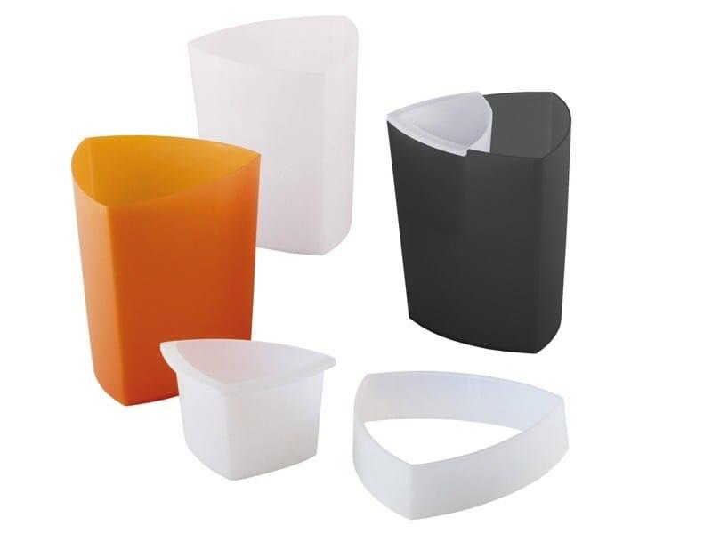 Polypropylene waste paper bin ECO PRO by REXITE