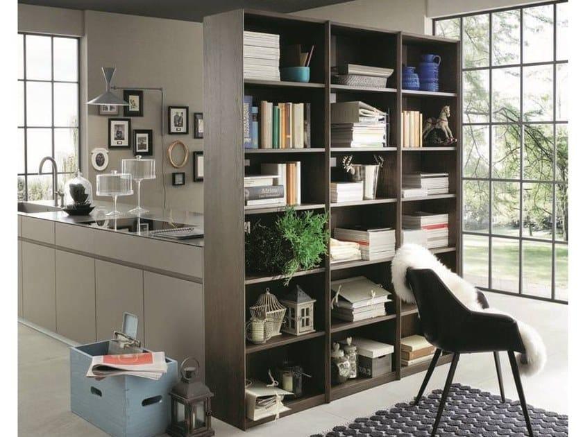 Libreria a giorno divisoria modulare in rovere ECOLAB 2 | Libreria divisoria by AltaCorte