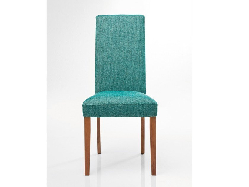 Upholstered fabric chair ECONO SLIM RHYTHM GREEN by KARE-DESIGN