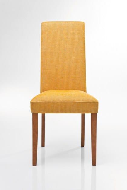 Upholstered high-back fabric chair ECONO SLIM RHYTHM MUSTARD by KARE-DESIGN