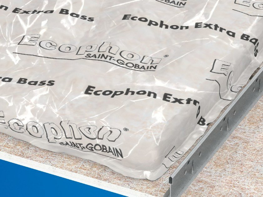 Sound insulation and sound absorbing panel for false ceiling ECOPHON EXTRA BASS by Saint-Gobain ECOPHON