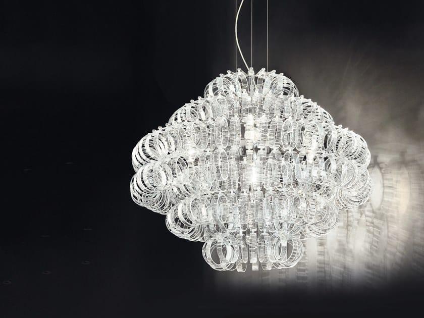Glass pendant lamp ECOS SP 90 by Vetreria Vistosi