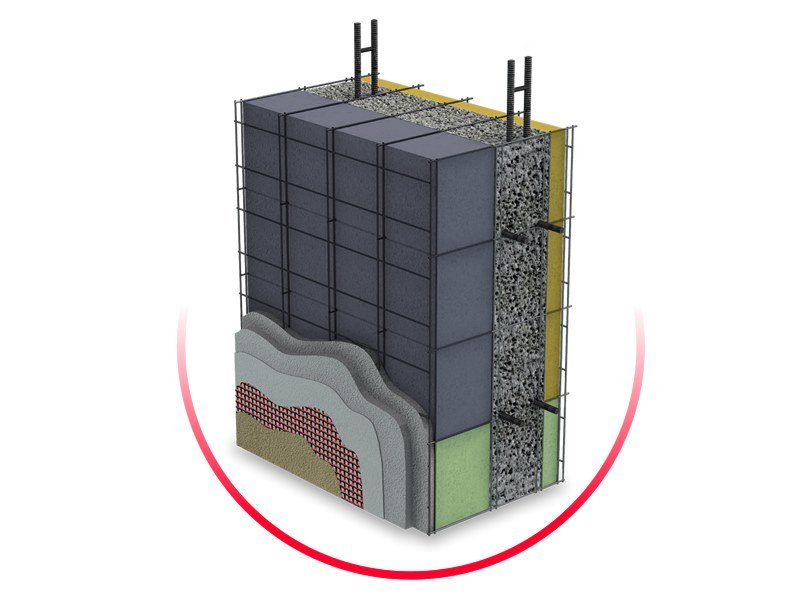 Formwork system for load-bearing wall ECOSISM by ECOSISM